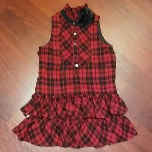 Ralph Lauren Girl's Plaid Holiday Dress